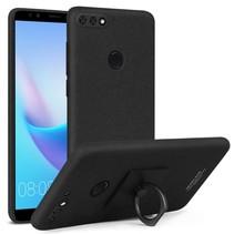 Imak Hardcase Hoesje Huawei Y7 Prime - Zwart