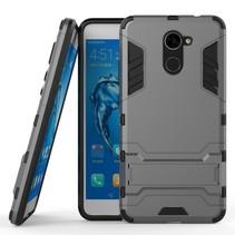 Hybrid Hoesje Huawei Y7 Prime - Grijs