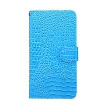 Krokodillen Booktype Hoesje Huawei Y7 Prime - Blauw