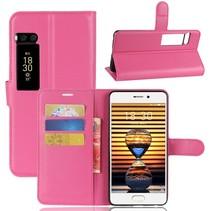 Litchee Booktype Hoesje Meizu Pro 7 - Roze