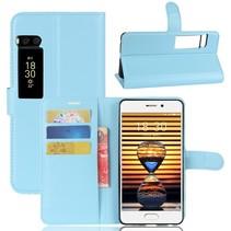 Litchee Booktype Hoesje Meizu Pro 7 - Blauw