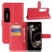 Litchee Booktype Hoesje Meizu Pro 7 Plus - Rood