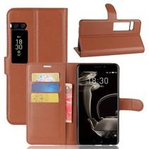 Litchee Booktype Hoesje Meizu Pro 7 Plus - Bruin
