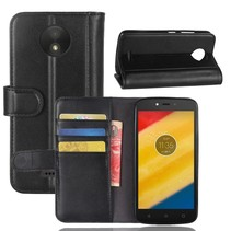 Booktype Hoesje Motorola Moto C Plus - Zwart