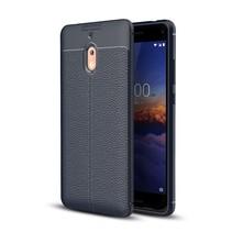 Litchee TPU Hoesje Nokia 2.1 - Donker Blauw
