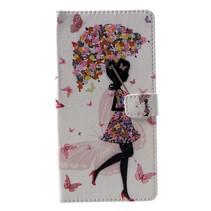 Paraplu Meisje Booktype Hoesje Nokia 2.1