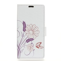 Vlinder en bloem Booktype Hoesje Nokia 3.1