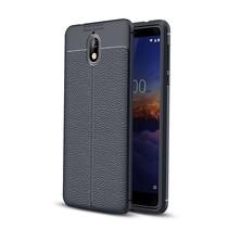 Litchee TPU Hoesje Nokia 3.1 - Donker Blauw