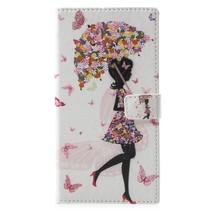 Paraplu Meisje Booktype Hoesje Nokia 3.1