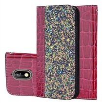 Glitters Booktype Hoesje Nokia 3.1 - Rood