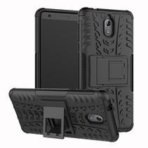 Hybrid Hoesje Nokia 3.1 - Zwart