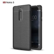 Litchee TPU Hoesje Nokia 5 - Zwart