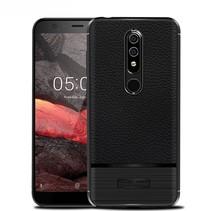 Litchee TPU Hoesje Nokia 5.1 - Zwart