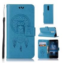 Dromenvanger Booktype Hoesje Nokia 5.1 - Blauw