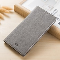 Vilidmx Booktype Hoesje Nokia 5.1 - Grijs