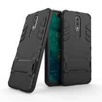 Hybrid Hoesje Nokia 5.1 - Zwart