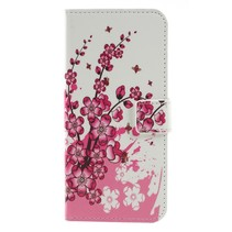 Roze Bloesem Booktype Hoesje Nokia 5.1