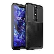 TPU Hoesje Nokia 5.1 Plus - Zwart
