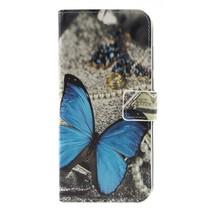 Blauwe Vlinder Booktype Hoesje Nokia 5.1 Plus