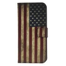 Amerkaanse Vlag Booktype Hoesje Nokia 5.1 Plus
