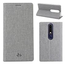 Vilidmx Booktype Hoesje Nokia 5.1 Plus - Grijs