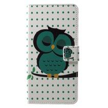 Groene Uil Booktype Hoesje Nokia 6