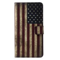 Amerikaanse Vlag Booktype Hoesje Nokia 6