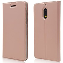 Booktype Hoesje Nokia 6 - Roze / Goud