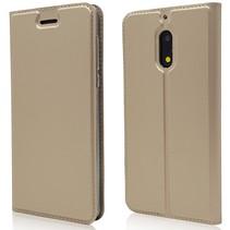Booktype Hoesje Nokia 6 - Goud