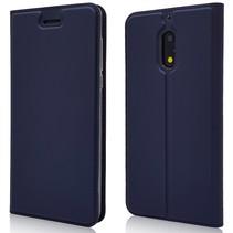Booktype Hoesje Nokia 6 - Donker Blauw