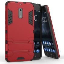 Hybrid Hoesje Nokia 6 - Rood