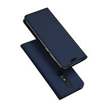 Dux Ducis Booktype Hoesje Nokia 7.1 - Donker Blauw