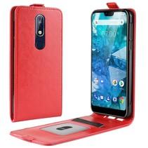 Flipcase Hoesje Nokia 7.1 - Rood