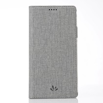 Vilidmx Booktype Hoesje Nokia 7.1 - Grijs