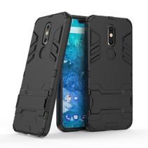 Hybrid Hoesje Nokia 7.1 - Zwart