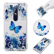 Vlinder en Bloem TPU Hoesje Nokia 7.1
