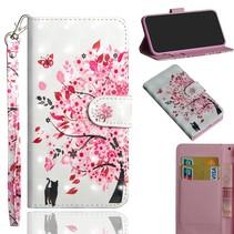 Kleurrijke Bloesem Booktype Hoesje Nokia 8.1