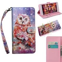 Kleurrijke Uil Booktype Hoesje Nokia 8.1