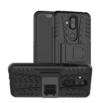 Hybrid Hoesje Nokia 8.1 - Zwart