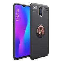 TPU Hoesje OnePlus 6T - Zwart / Roze Goud