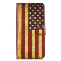 Amerikaanse Vlag Booktype Hoesje OnePlus 6T