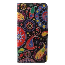 Abstracte Figuren Booktype Hoesje Samsung Galaxy A6 2018
