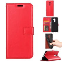 Booktype Hoesje Samsung Galaxy A6 2018 - Rood