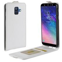 Flipcase Hoesje Samsung Galaxy A6 2018 - Wit