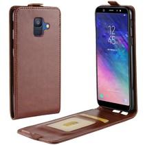 Flipcase Hoesje Samsung Galaxy A6 2018 - Bruin