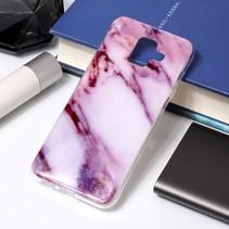 Marmer TPU Hoesje Samsung Galaxy A6 2018 - Paars