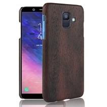 Hardcase Hoesje Samsung Galaxy A6 2018 - Zwart