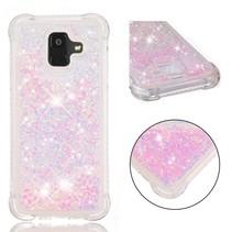 Glitters TPU Hoesje Samsung Galaxy A6 2018 - Roze