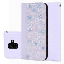 Glitters Booktype Hoesje Samsung Galaxy A6 2018 - Lila