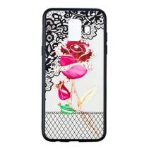 Roos Booktype Hoesje Samsung Galaxy A6 2018 - Roze